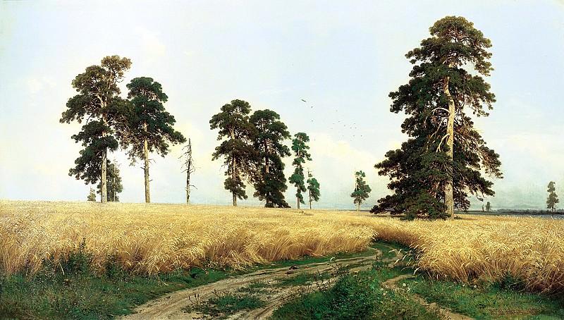 Shishkin Ivan - Rye. 900 Classic russian paintings