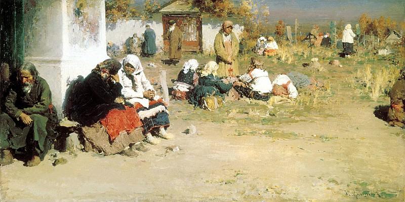 АРХИПОВ Абрам - Радоница (Перед обедней). 900 Картин самых известных русских художников