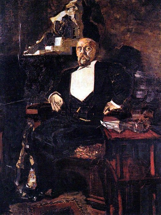 Vrubel Michael - Portrait of S. Mamontov (1887) GTG. 900 Classic russian paintings