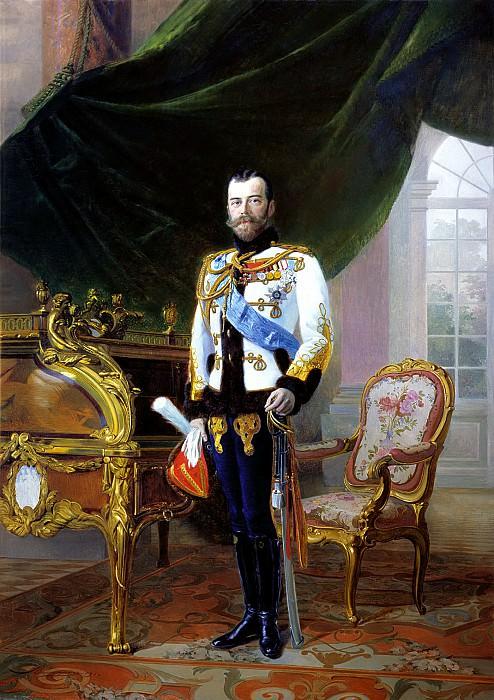 Lipgart Ernest - Emperor Nicholas II. 900 Classic russian paintings