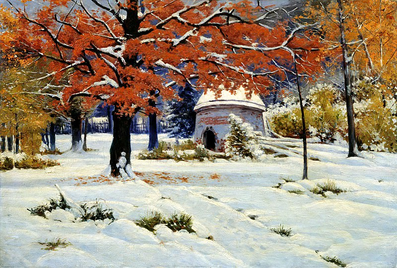 Kryzhitsky Constantine - Early Snow. 900 Classic russian paintings