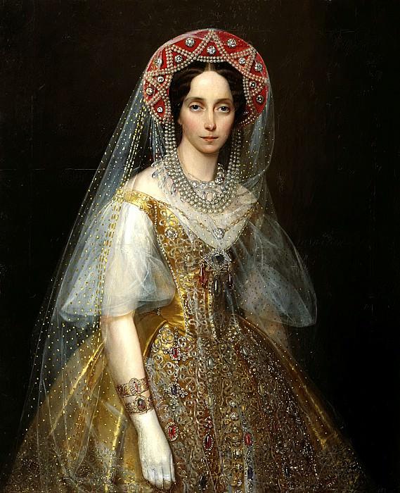 MAKAROV Ivan - Grand Duchess Maria Alexandrovna. 900 Classic russian paintings