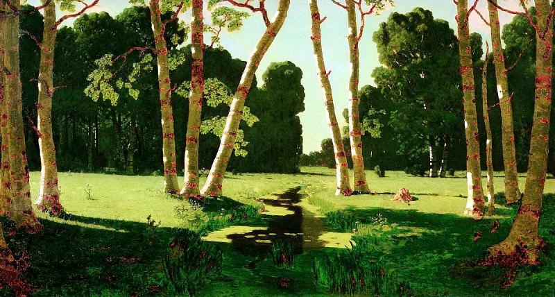 Kuindzhi Arkhip - Birch Grove. 900 Classic russian paintings