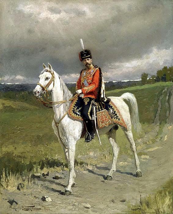 MAKOVSKY Alexander - Emperor Nicholas II. 900 Classic russian paintings