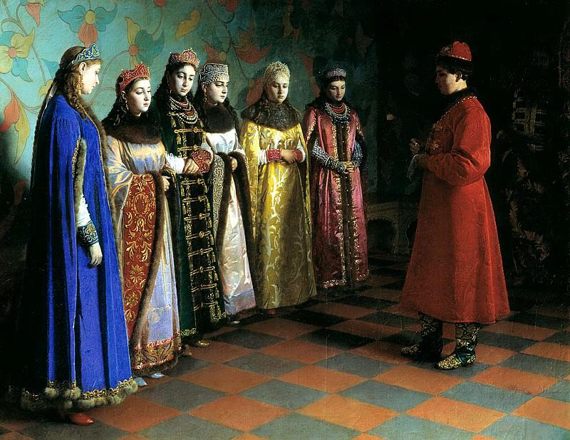 SEDOV Gregory - Choosing bride Tsar Alexei Mikhailovich. 900 Classic russian paintings