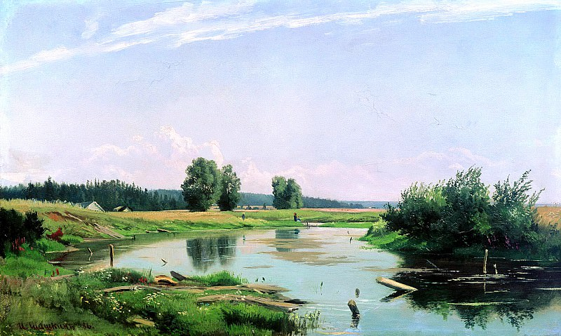 Shishkin Ivan - Landscape with a lake. 900 Classic russian paintings