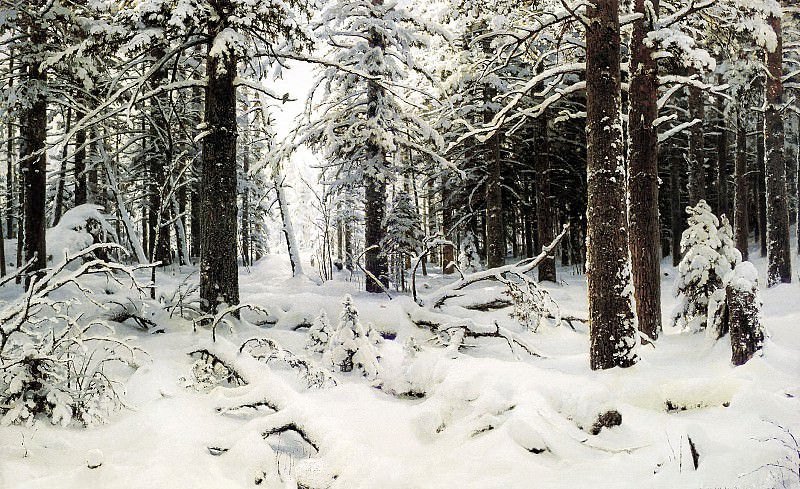 Shishkin Ivan - Winter. 900 Classic russian paintings
