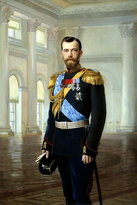 Lipgart Ernest - Portrait of Emperor Nicholas II. 900 Classic russian paintings