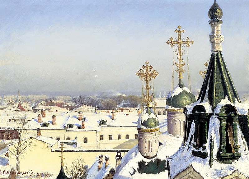 SVETOSLAVSKY Sergey - From the window of the Moscow School of Painting, Sculpture and Architecture. 900 Classic russian paintings