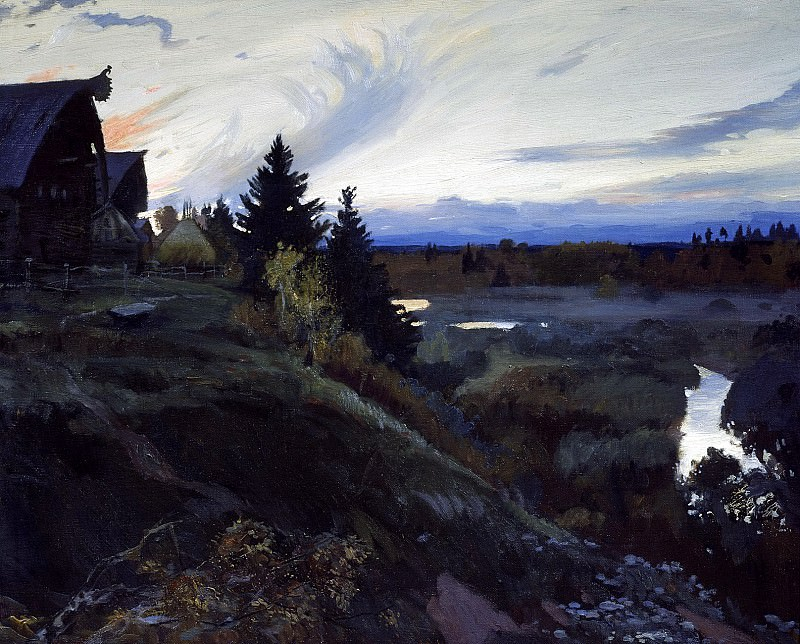 Ivan Glazunov - Twilight. 900 Classic russian paintings