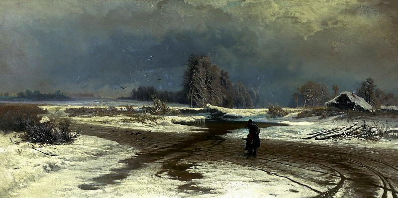 Fedor Vasiliev - Thaw. 900 Classic russian paintings