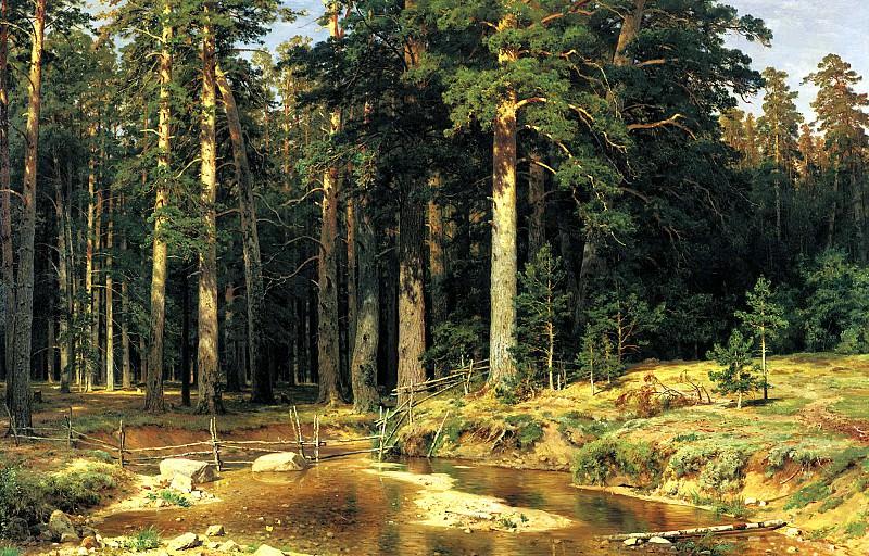 Shishkin Ivan - Naval grove. 900 Classic russian paintings