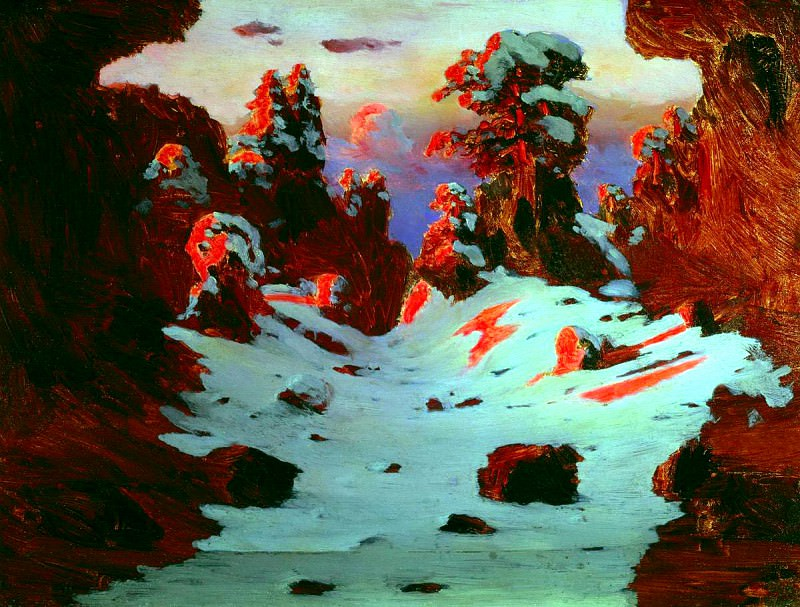 Kuindzhi Arkhip - The effect of sunset. 900 Classic russian paintings