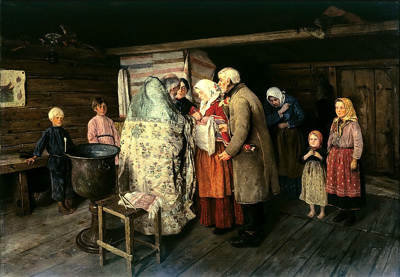 KOROVIN Peter - Christening. 900 Classic russian paintings