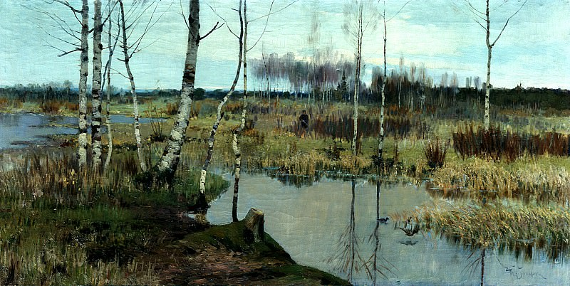 Richard Bergholz - Spring landscape. 900 Classic russian paintings