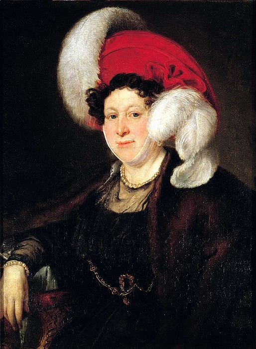 Tropinin Vasily - Portrait of Countess Natalia Alexandrovna Zubov. 1834. 900 Classic russian paintings