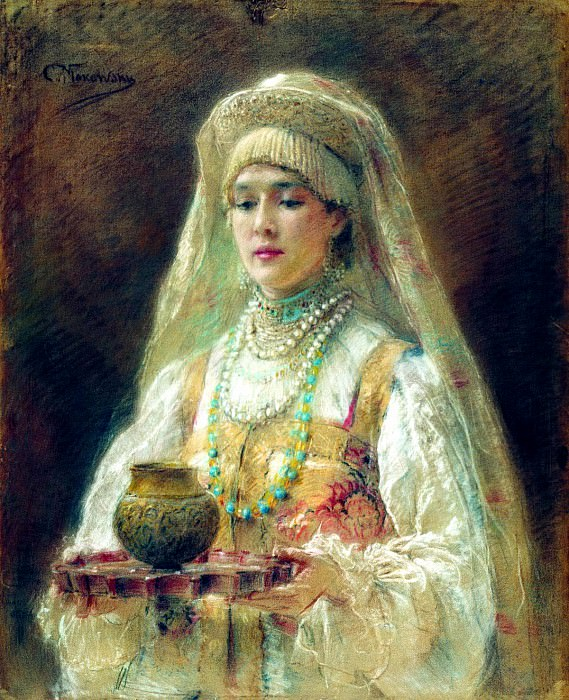 MAKOVSKY Constantine - Charca honey. 900 Classic russian paintings