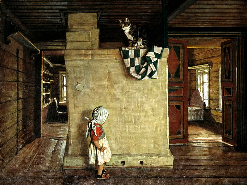 ANOKHIN Nicholas - In an old house Rakitin. 900 Classic russian paintings