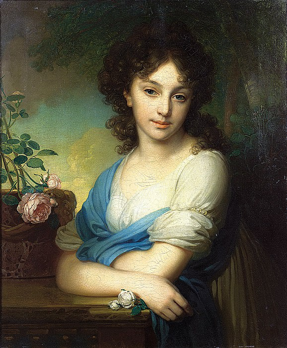 Borovikovsky Vladimir - Portrait of Elena Alexandrovna Naryshkina. 900 Classic russian paintings