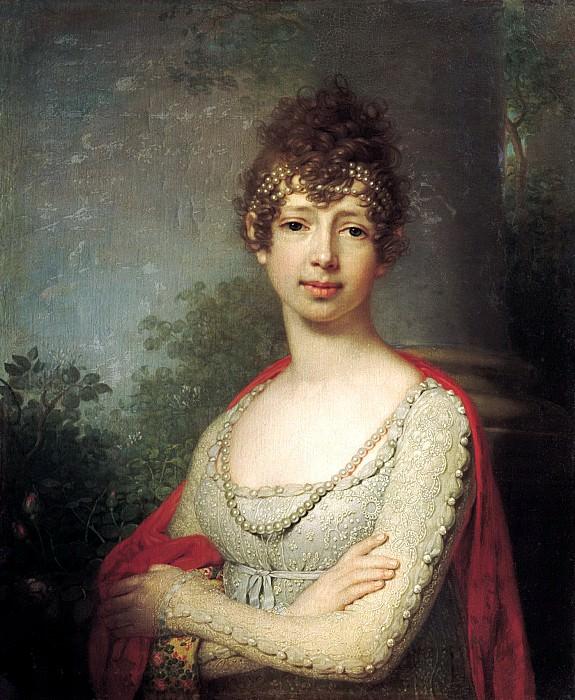 Borovikovsky Vladimir - Portrait of Grand Duchess Maria Pavlovna. 900 Classic russian paintings