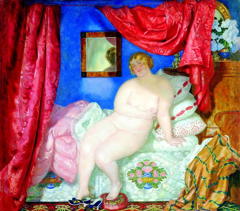 Kustodiyev Boris - Beauty. 1918. 900 Classic russian paintings