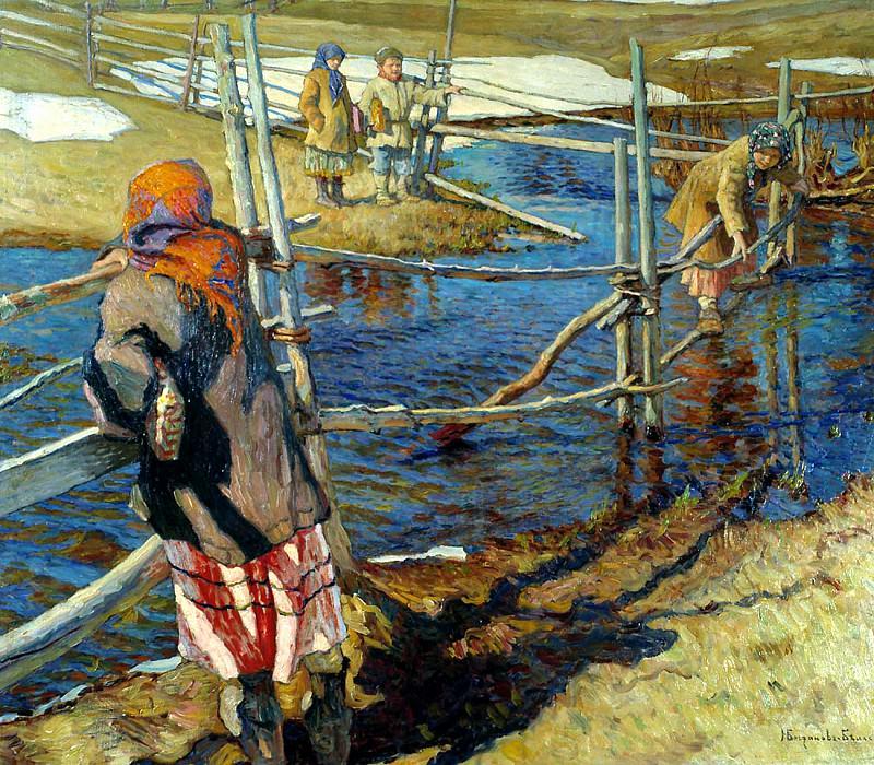 Crossing. Nikolai Petrovich Bogdanov-Belsky
