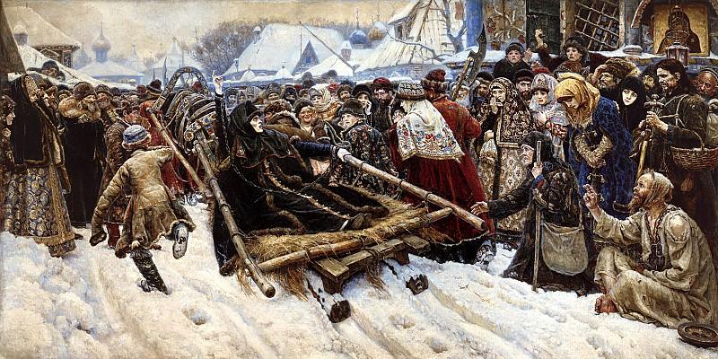 Surikov Vasily - Boyarynya Morozov. 900 Classic russian paintings
