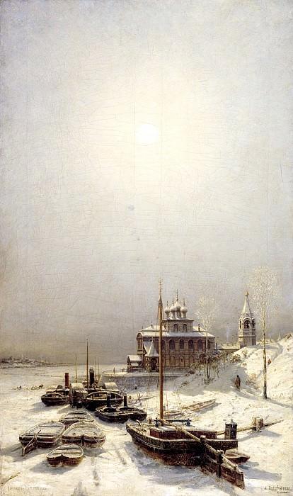 Bogolyubov Alexey - Winter in Borisoglebsk. 900 Classic russian paintings