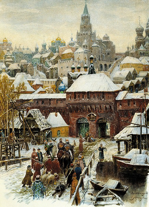 Vasnetsov Apollinary - Moscow. Late XVII century. 900 Classic russian paintings