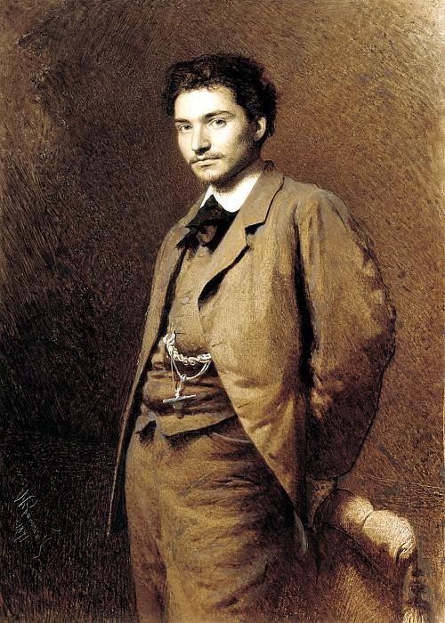 Kramskoy Ivan - Portrait of Fyodor Vasilyev. 900 Classic russian paintings