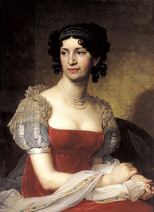 Borovikovsky Vladimir - Portrait of Princess Margarita Dolgorukoi. 900 Classic russian paintings