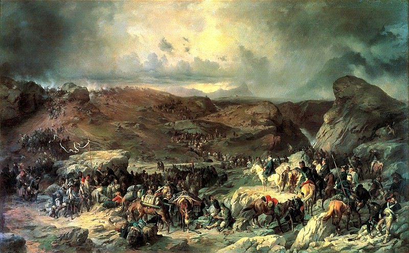 Kotzebue Alexander - Moving troops Suvorov Crossing the St. Gotthard September 13, 1799. 900 Classic russian paintings