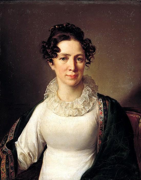 Tropinin Vasily - Portrait Akhmatova Tropinina, sister of the artist. 1827. 900 Classic russian paintings