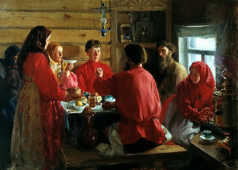 KULIKOV Ivan - In a farmhouse. 900 Classic russian paintings