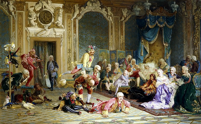 YAACOBI Valery - jesters at the court of Empress Anna Ivanovna. 900 Classic russian paintings
