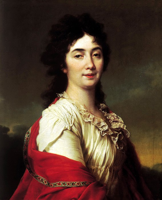 Levitsky Dmitry - Portrait of Anna Ste Protasov, the former chamber-maids of honor of Catherine II. 900 Classic russian paintings