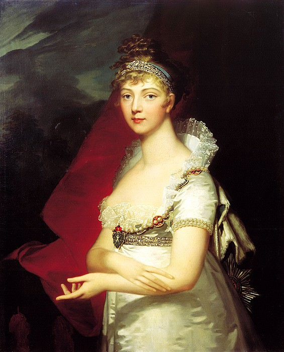Monnier Jean Laurent - Portrait of Empress Elizabeth Alekseyevna. 1807. 900 Classic russian paintings