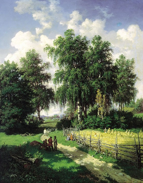 Brick Valerian - Type in the vicinity of Gatchina. 900 Classic russian paintings