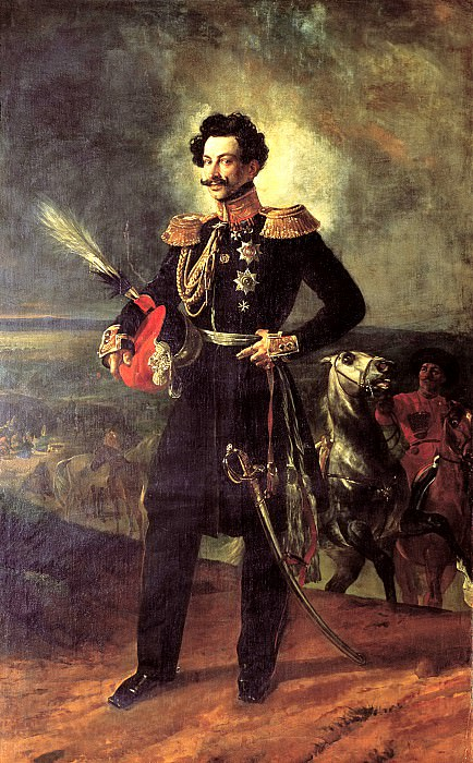 BRYULLOV Karl - Portrait of General-adjutant Count Vasily Alekseevich Perovski. 1837. 900 Classic russian paintings