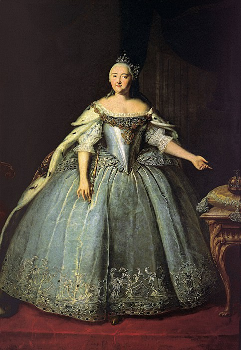 Vishnjakov Ivan - Portrait of Empress Elizabeth. 900 Classic russian paintings