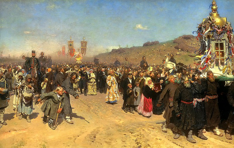 Ilya Repin - Religious Procession in Kursk Province. 900 Classic russian paintings