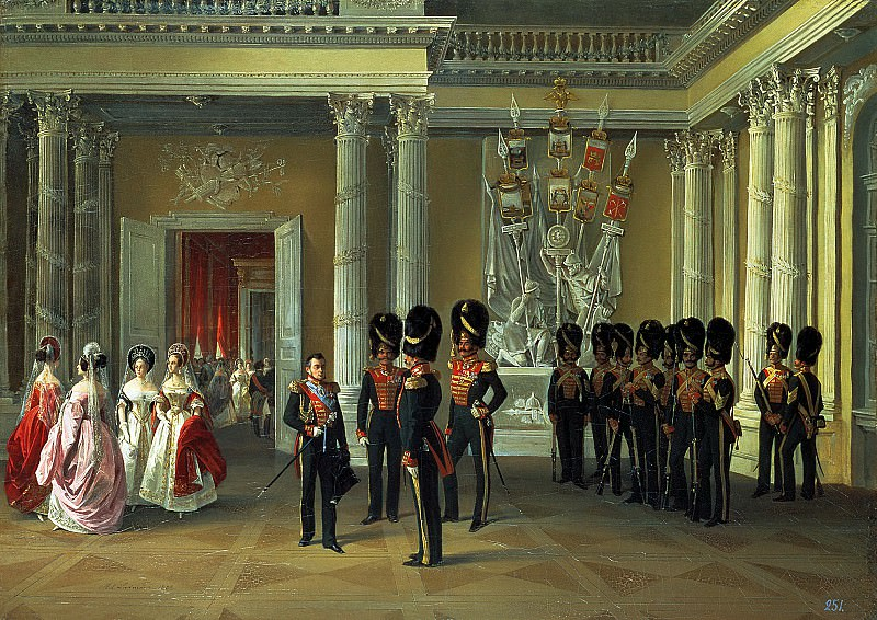 LADYURNER Adolf - The Armorial Hall of the Winter Palace. 900 Classic russian paintings