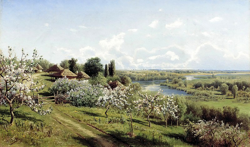 SERGEEV Nick - Apple trees in bloom. In Ukraine. 900 Classic russian paintings
