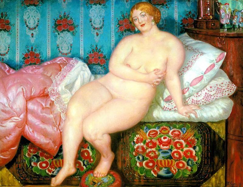 Kustodiyev Boris - Beauty. 1915. 900 Classic russian paintings