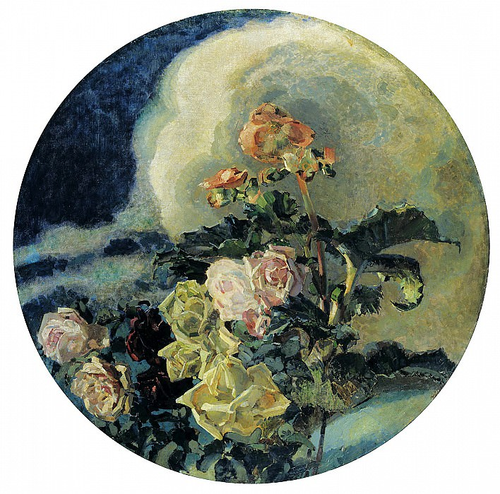 Vrubel Michael - Yellow Roses. 900 Classic russian paintings