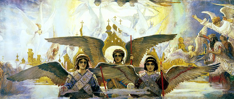 Viktor Vasnetsov - Joy of the Lord the righteous (affects the central part). 900 Classic russian paintings