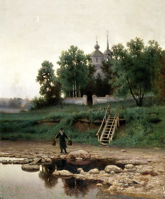 VOLKOV Yefim - the monastery. 900 Classic russian paintings
