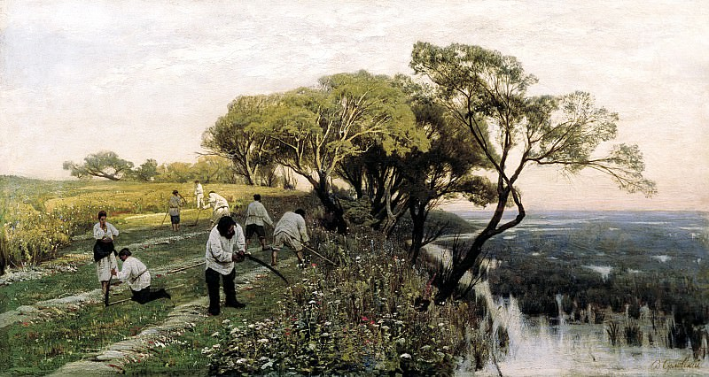 Vladimir Orlovsky - mowers. 900 Classic russian paintings