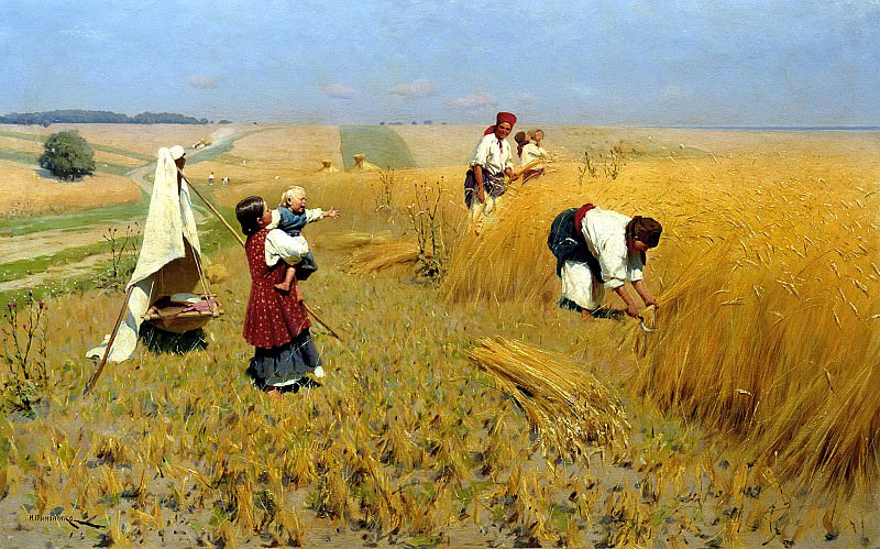 Pimonenko Nick - Harvest in Ukraine. 900 Classic russian paintings