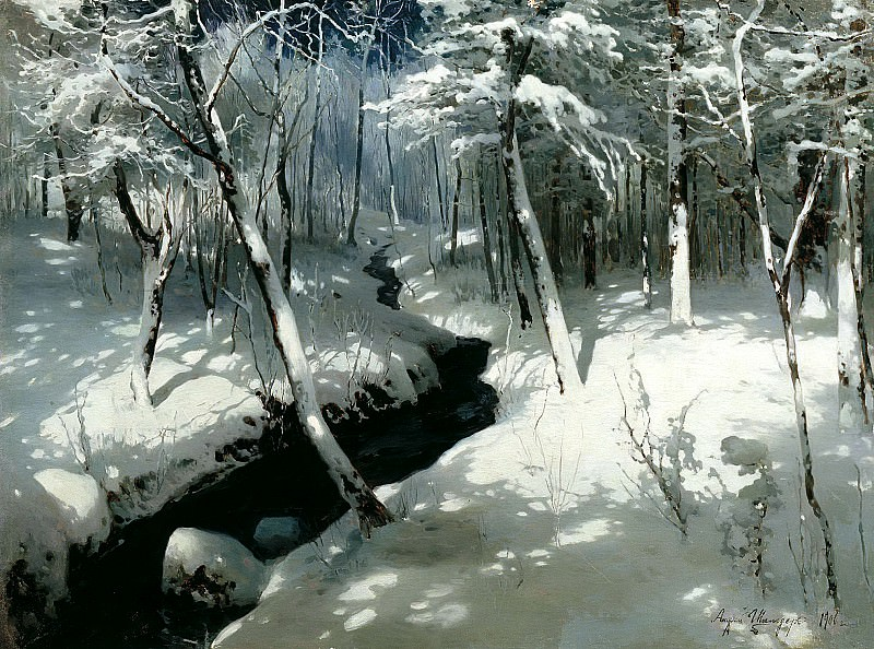 Schilder Andrew - Forest Stream. 900 Classic russian paintings
